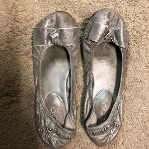Aldo silver ballet flats